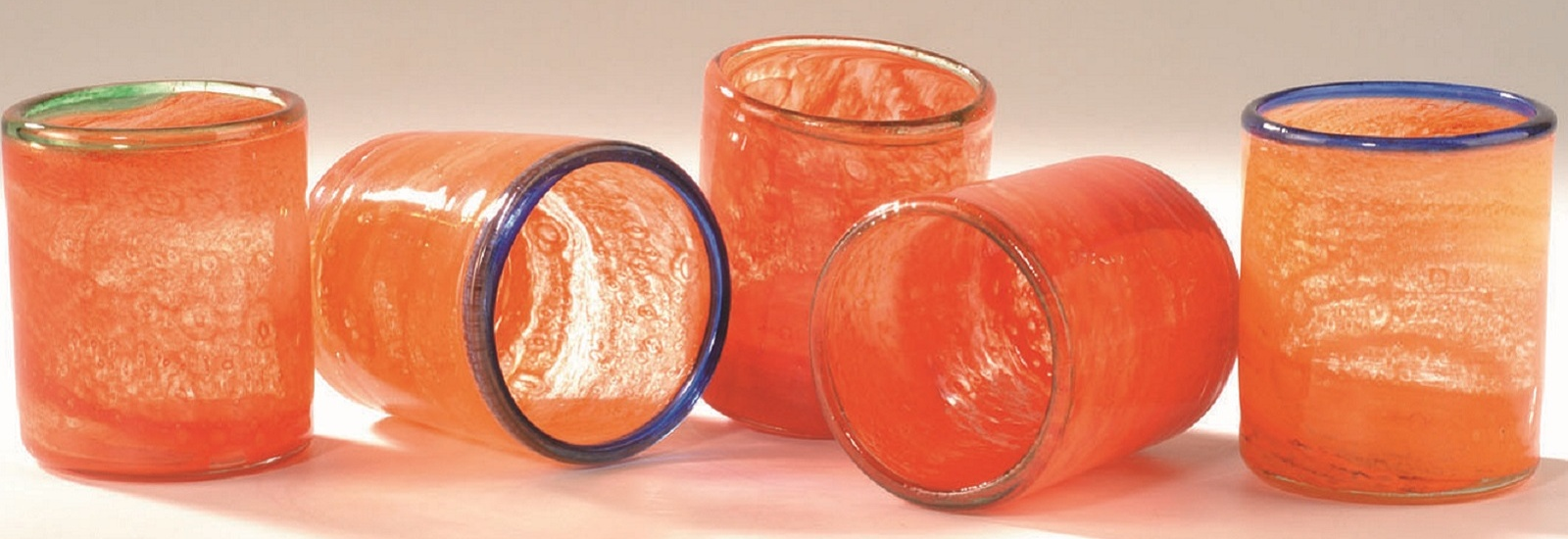 Orange Crystal glasses